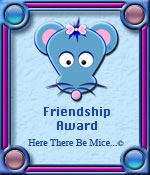 Here There Be Mice...© Friendship Award Award Graphic