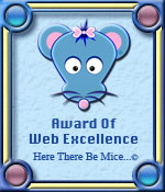Here There Be Mice...© Web Excellence Award Graphic