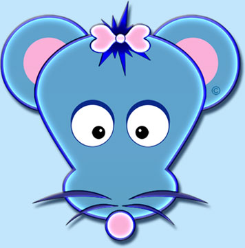 Maya The Mouse Logo Graphic